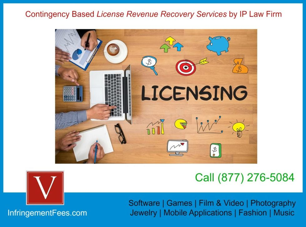 Software licensing fees contingency recovery law firm 1024x761