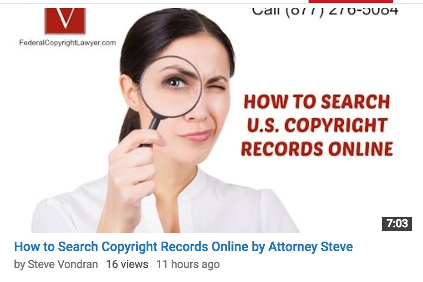 How to searach us copyright records online