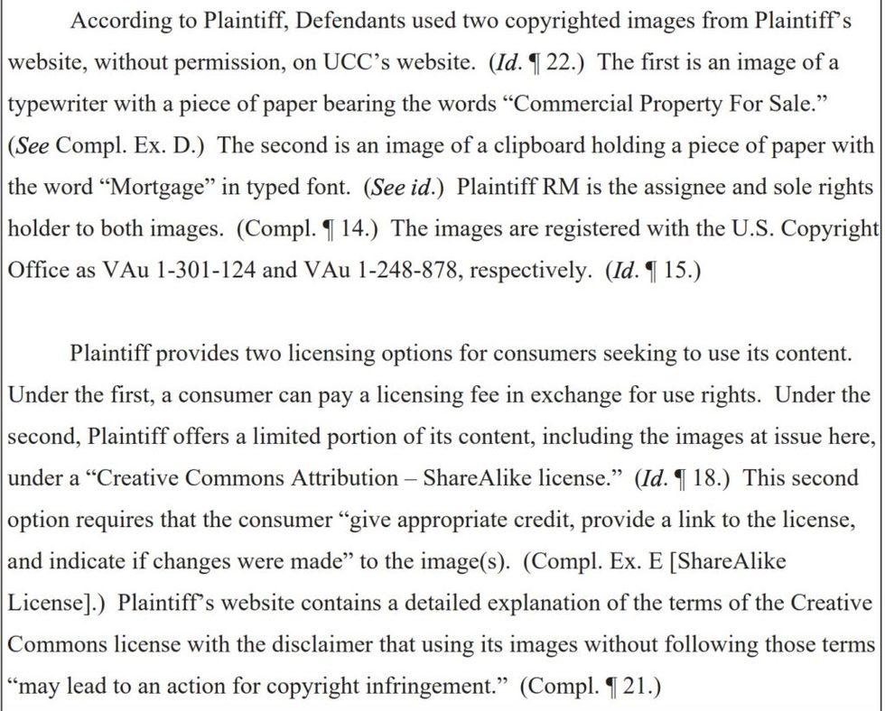 Photo infringement complaint allegations rm media ltd 1024x823