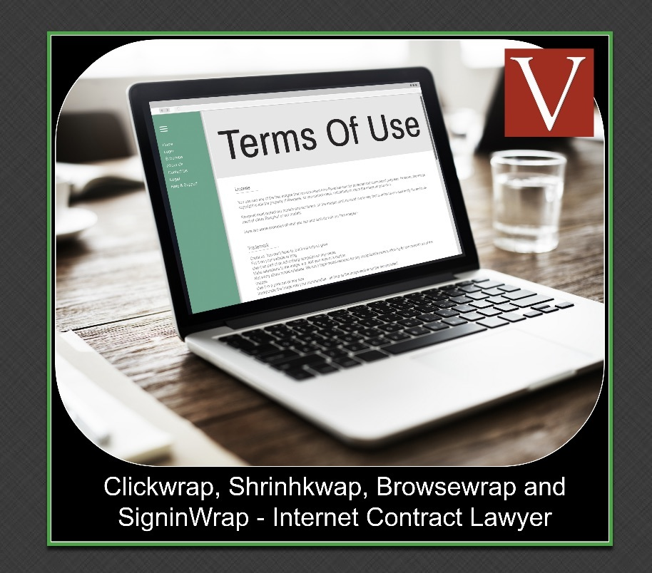 Clickwrap shrinkwrap browsewrap signin wrap internet contract law firm