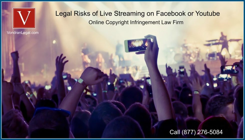 Legal risks of live steaming a concert on facebook 1024x583