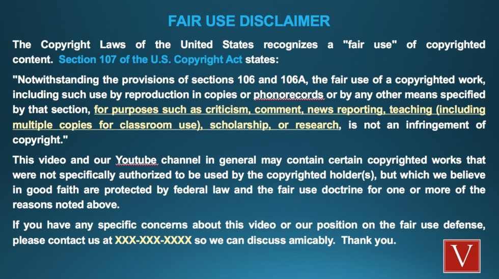 Fair Use Disclaimer For Youtube Channel Vondran Legal
