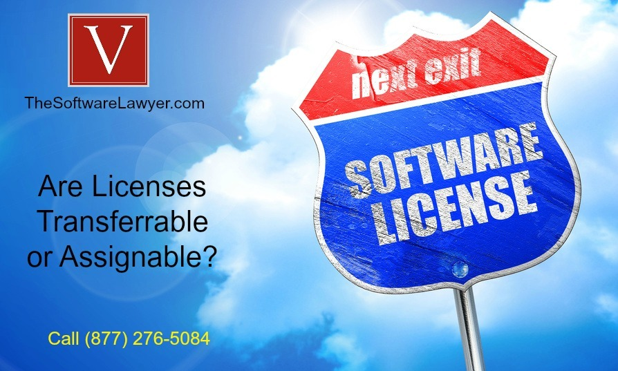 Are software licenses transferable to a new company
