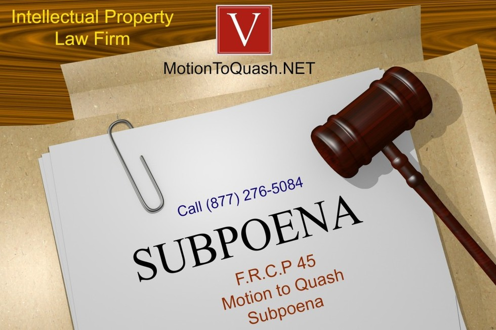 What is a motion to quash subpoena 1024x682