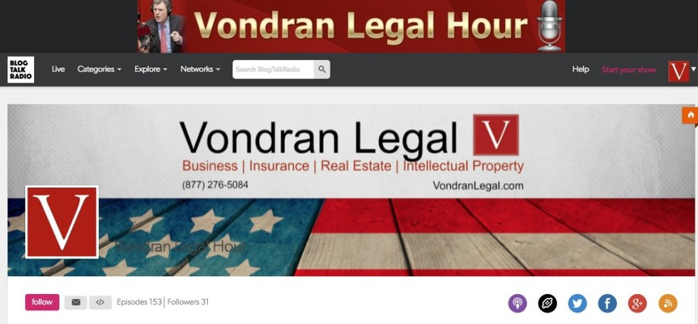 Vondran legal hour podcast 1024x475