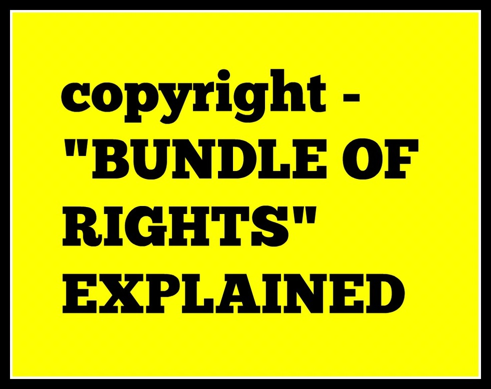 Copyright bundle of rights explained