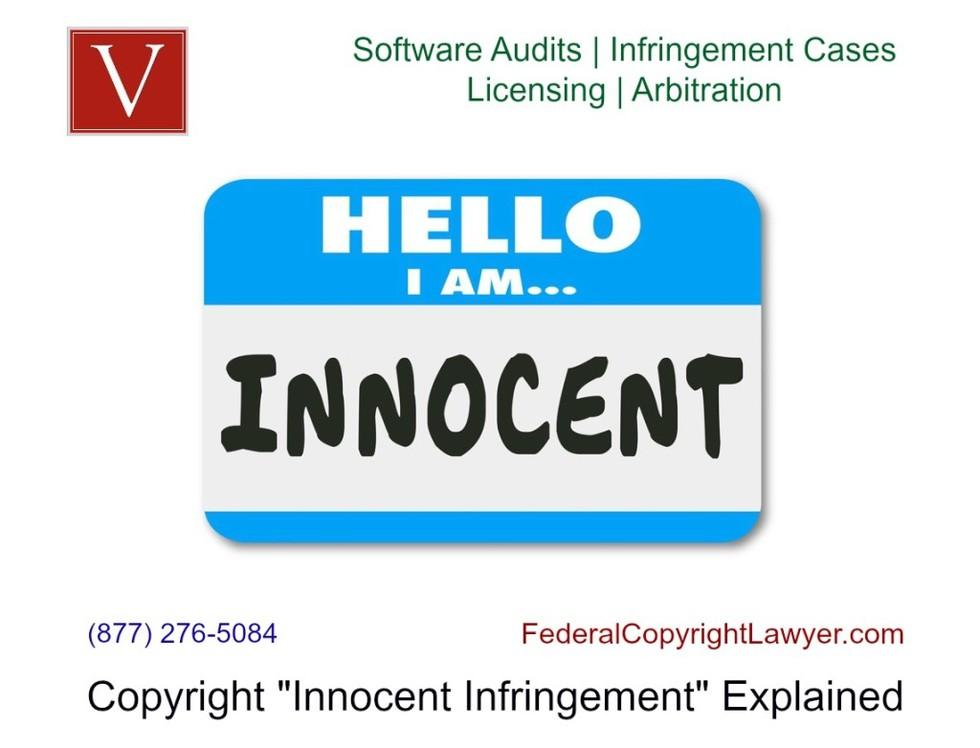 Copyright innocent infringement defense software audit 1024x782