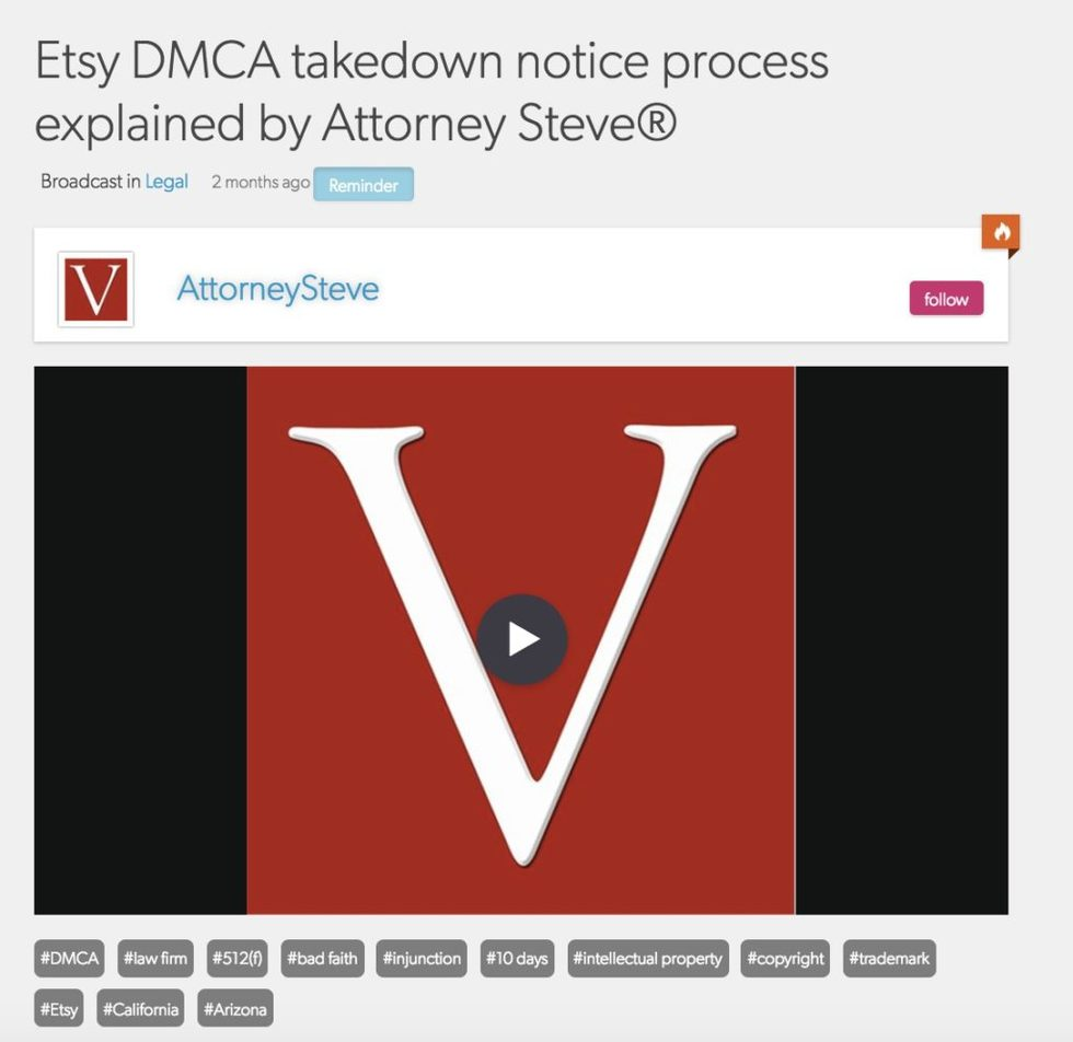 Etsy takedown dmca attorney california 1024x995