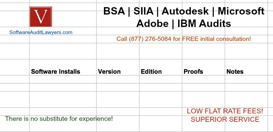 Software audit template
