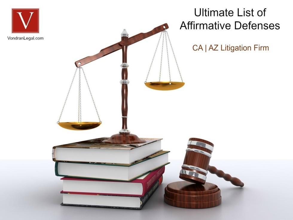 affirmative defenses checklist