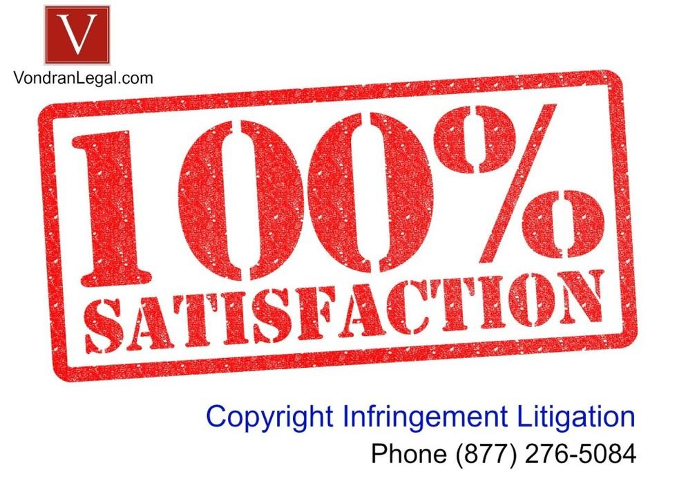 Copyright infringement defense one satisfaction rule 1024x724