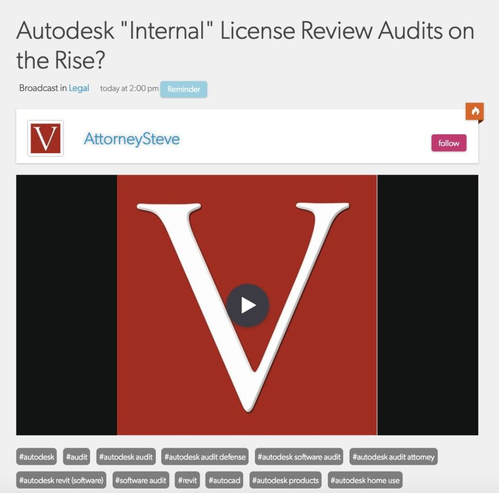 Lawyers for Autodesk Audits | Vondran Legal