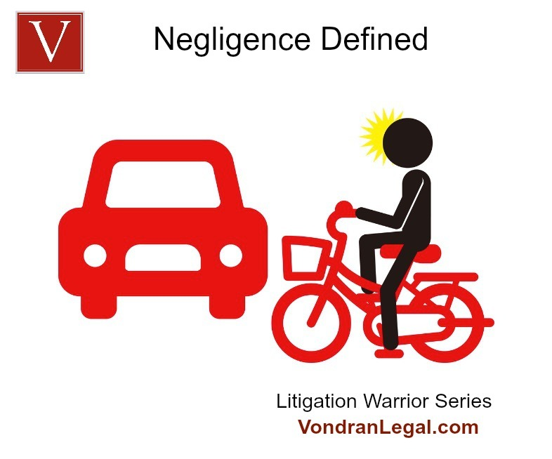 What is the legal definition of negligence