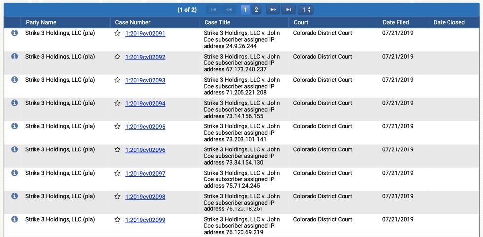 Acolorado 20strike 203 20holdings  20llc 20lawsuits 20filed 20by 20lawyer