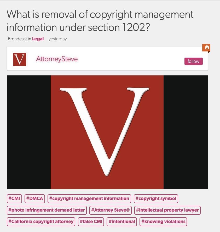 Copyright 1202 claim