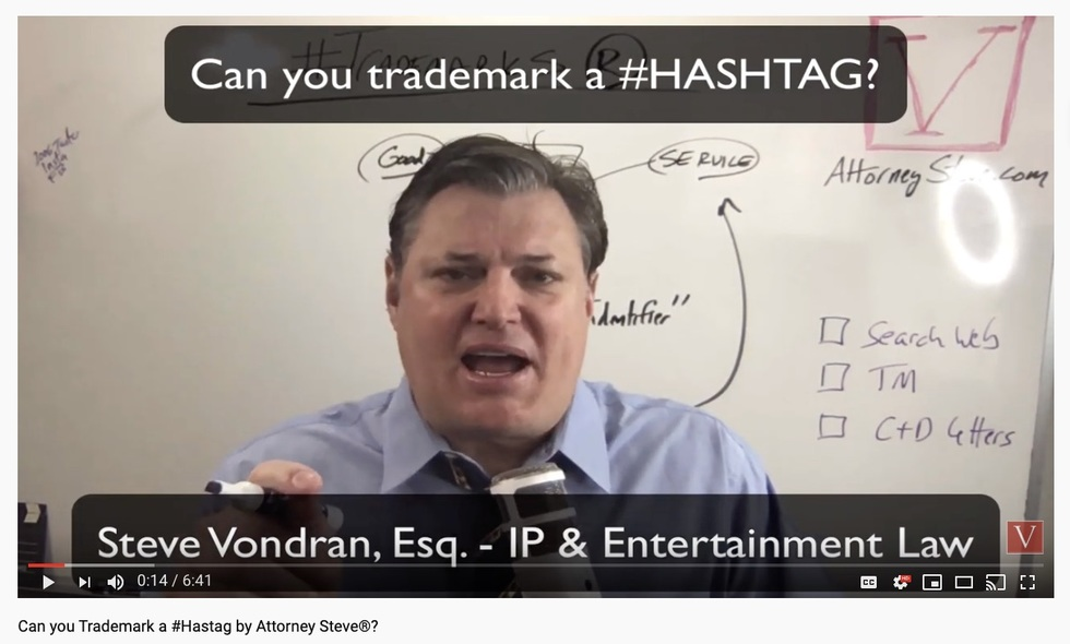 Hashtag trademark process