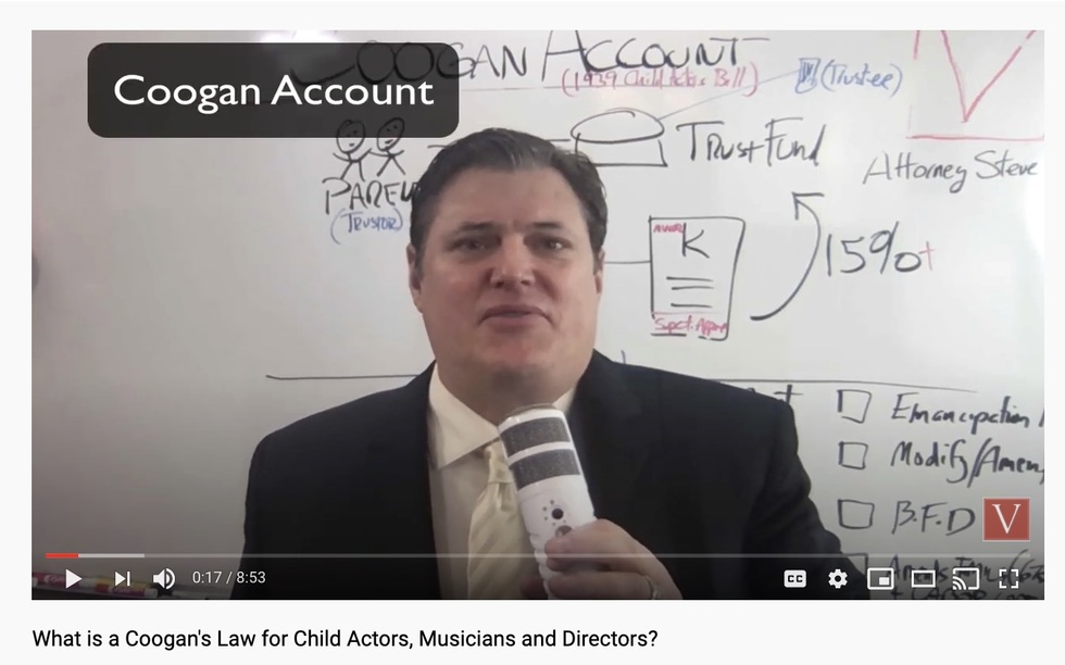 California entertainment attorney Coogan Account
