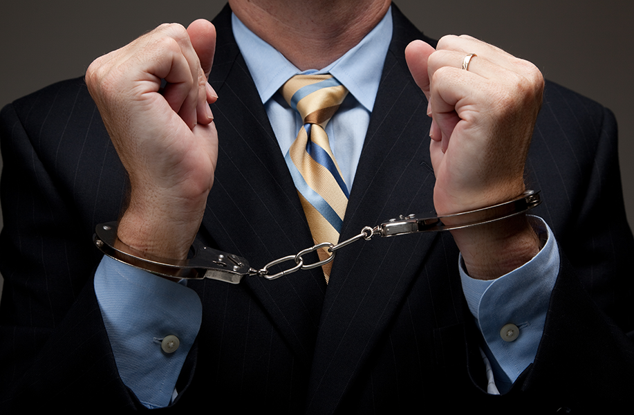 Businessman in Cuffs