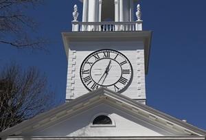 kennebunk OUI lawyer - church clock pic