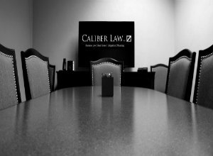 Caliber conference room with logo compressor