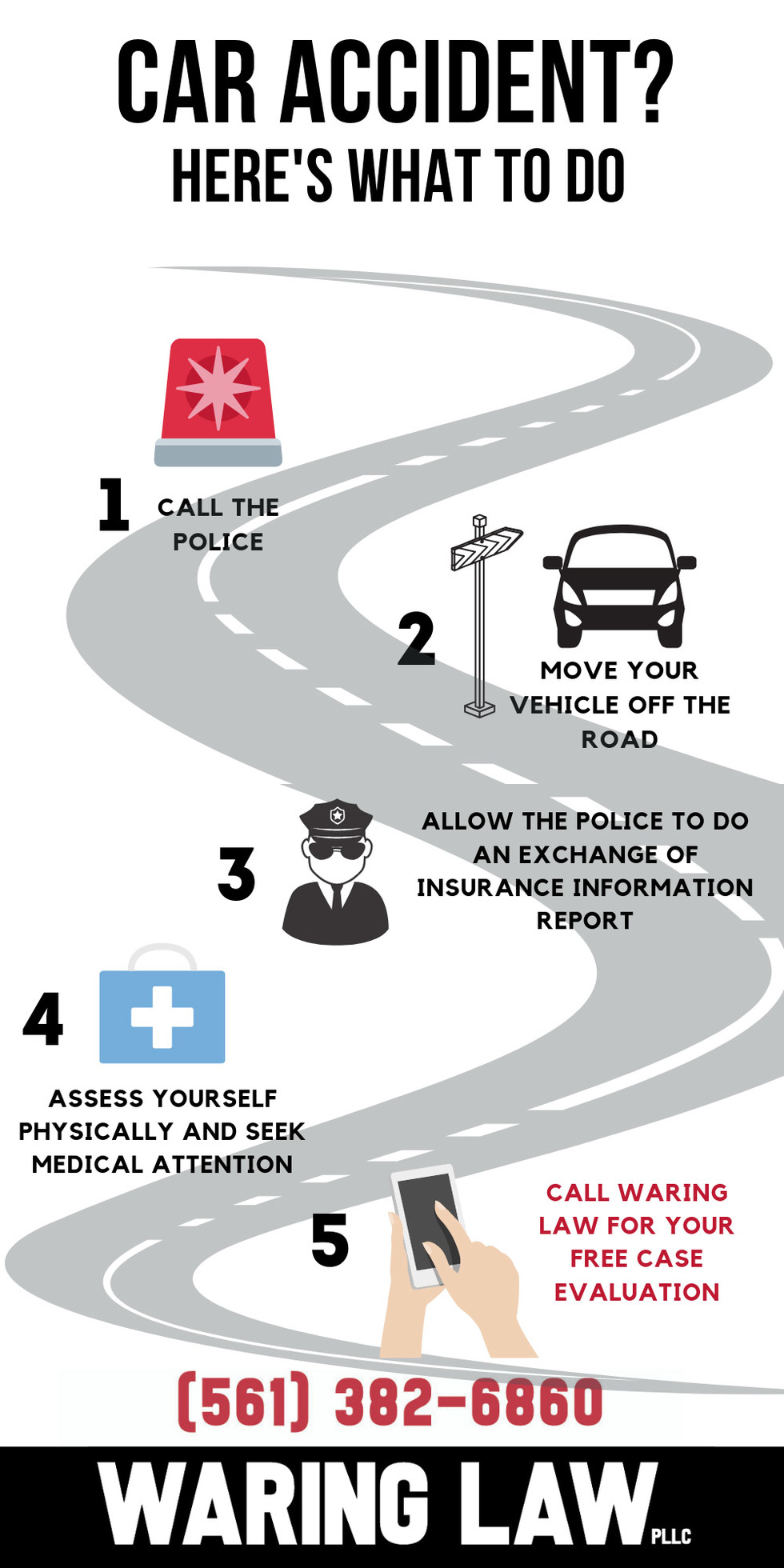 Waring Law: What to do after car accident in South Florida infographic