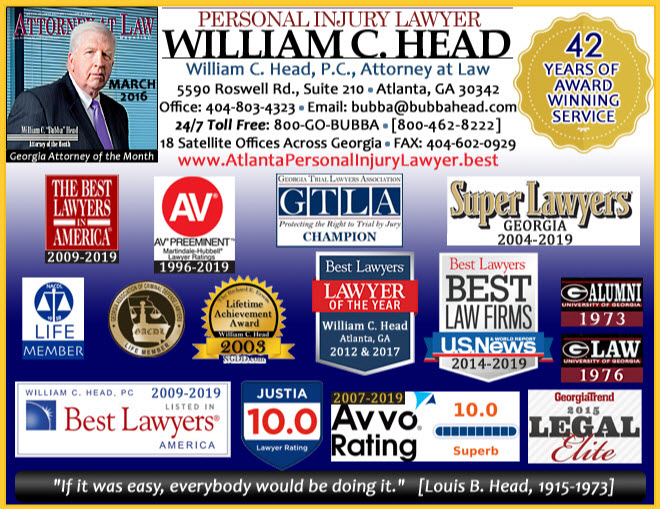 Atlanta Personal Injury Lawyer Bubba Head