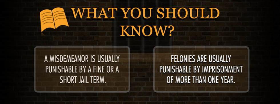 Felonies misdemeanors