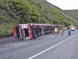 Trucking accident scene 2