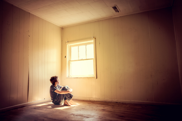 A Colorado child abuse victim, hungry and alone in a spare room.