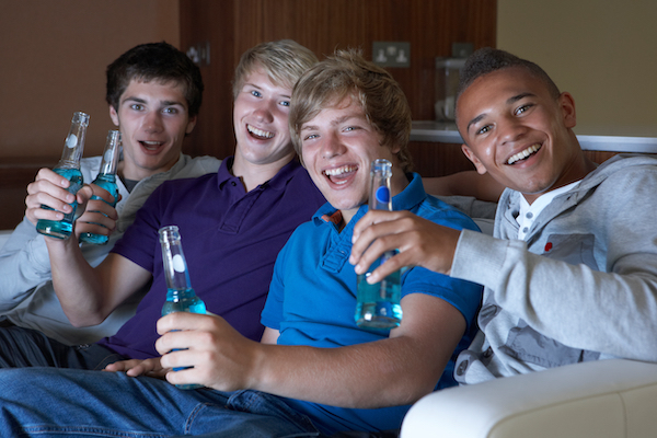 Young people drinking illegally without adult supervision in a Colorado home.