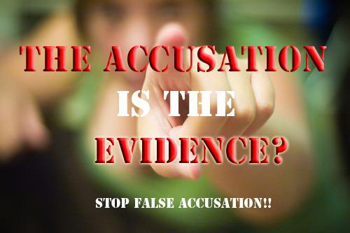 Accusation evidence rape