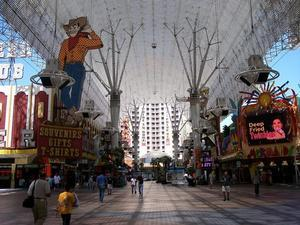 The Freemont Street Experience in downtown Las Vegas.