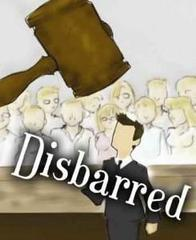 Cartoon-image-of-lawyer-under-word-disbarred