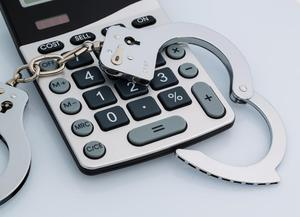 calculator and cuffs