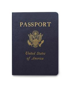 Front cover of an American passport