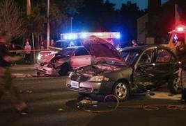 Severe-car-crash-with-police-lights