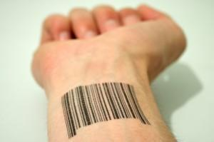 barcode on wrist