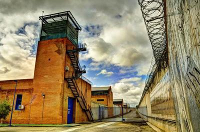 Prison-watchtower-and-fence
