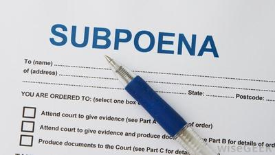 Subpoena-form