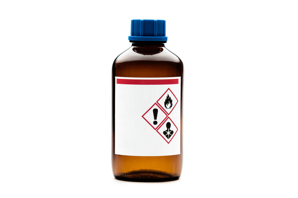 Caustic chemicalbottle