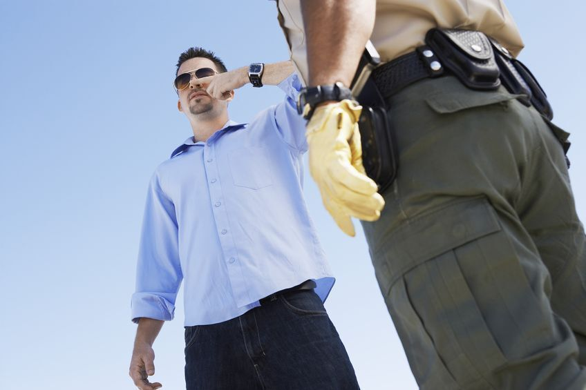 a DUI hand-to-nose field sobriety test