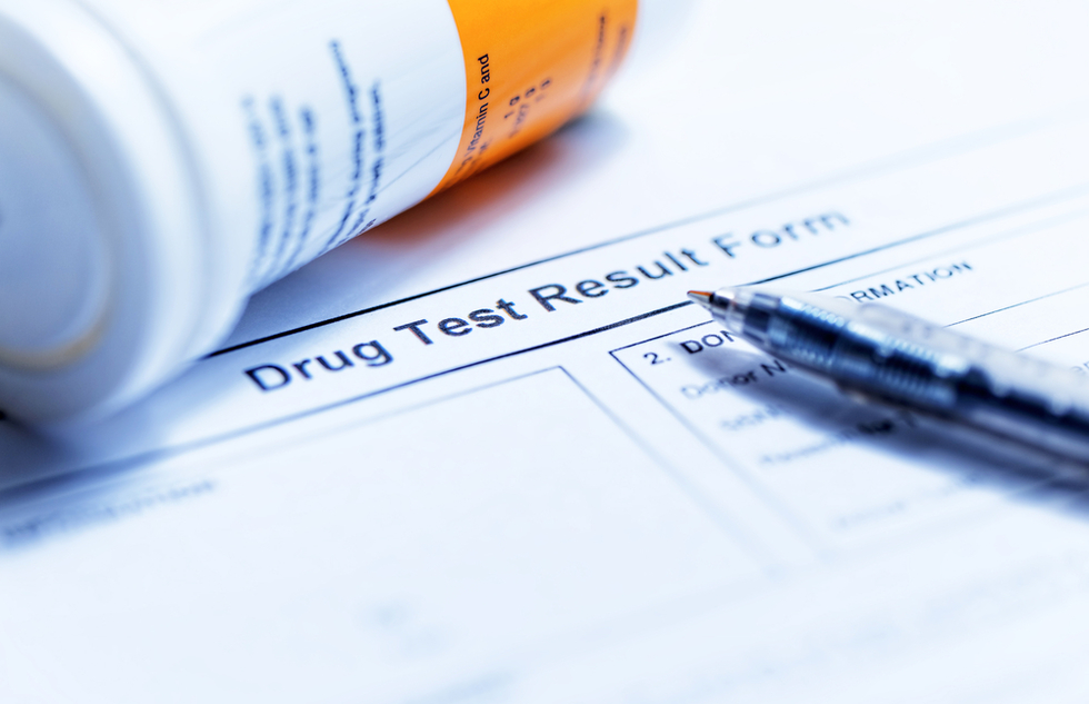 drug test results form