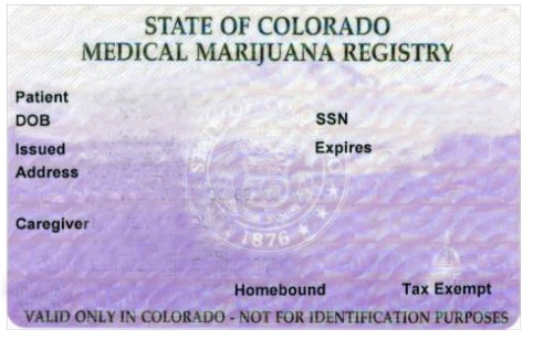 Colorado medical marijuana ID card