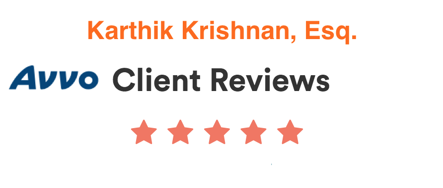 Avvo Client Reviews for Karthik Krishnan
