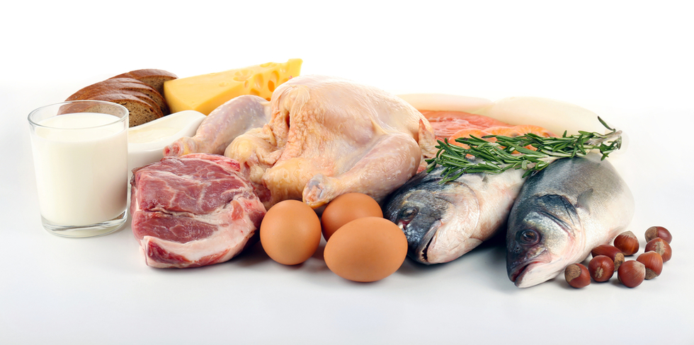 meats, fish and eggs for high-protein diet