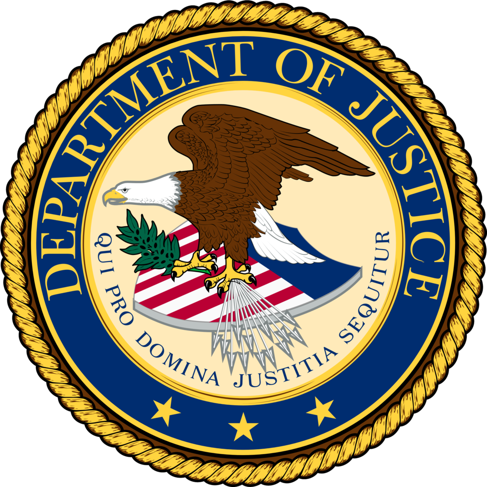U.S. Department of Justice official seal