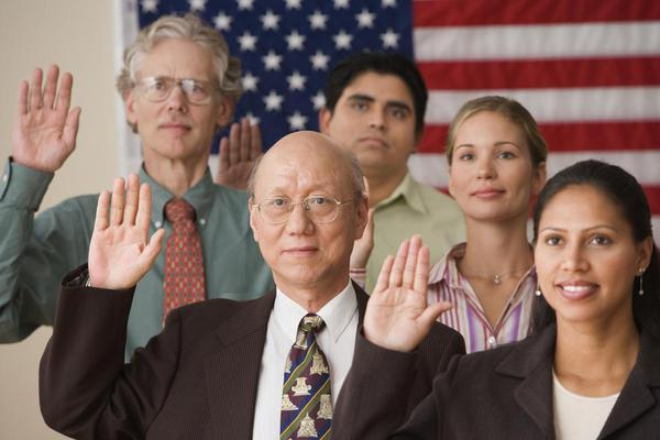 a group taking an oath; lying under penalty of perjury in California is a violation of 118 PC