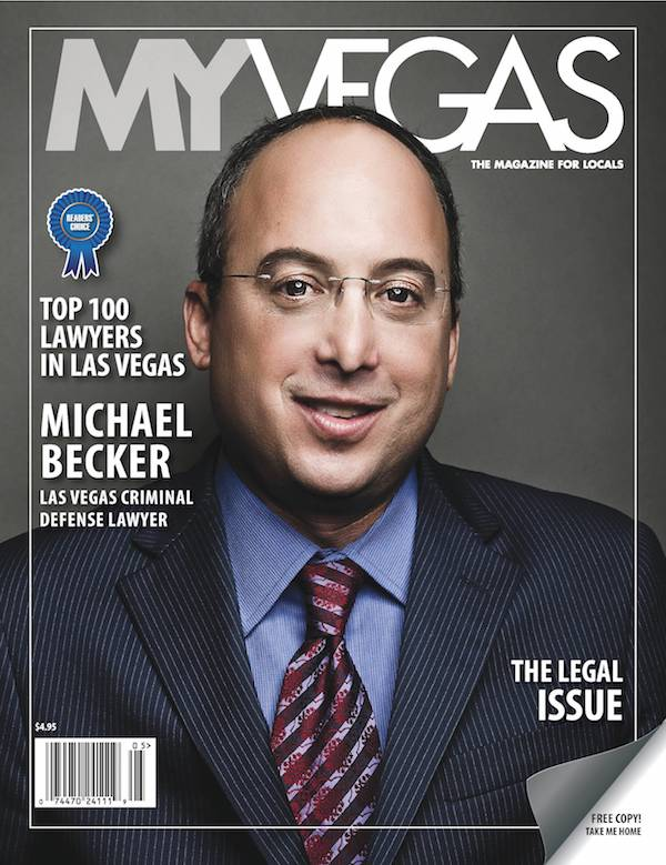 My Vegas Magazine cover with Michael Becker