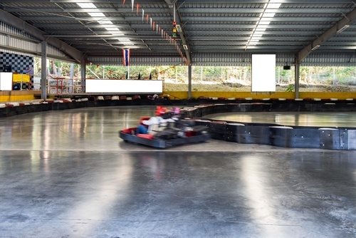 go kart on indoor track