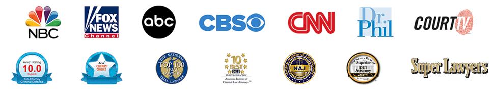 Media and award logos
